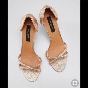 Ann Taylor Stephanie d'Orsay sandals in gold